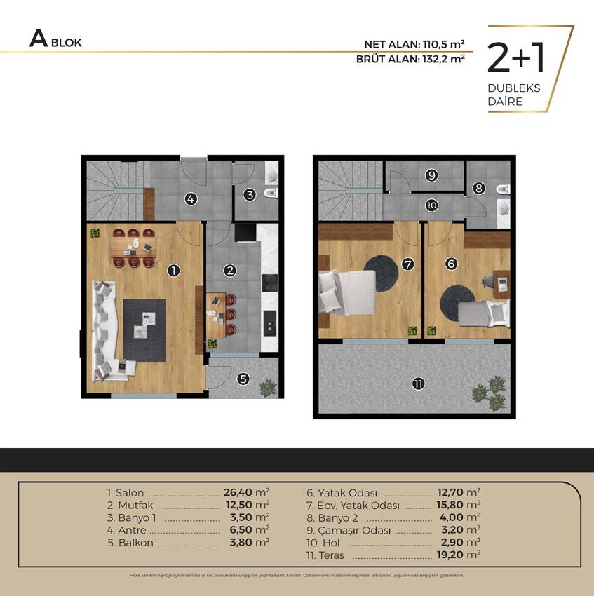 Luwi Residence ablok2 1dublex Kat Plani