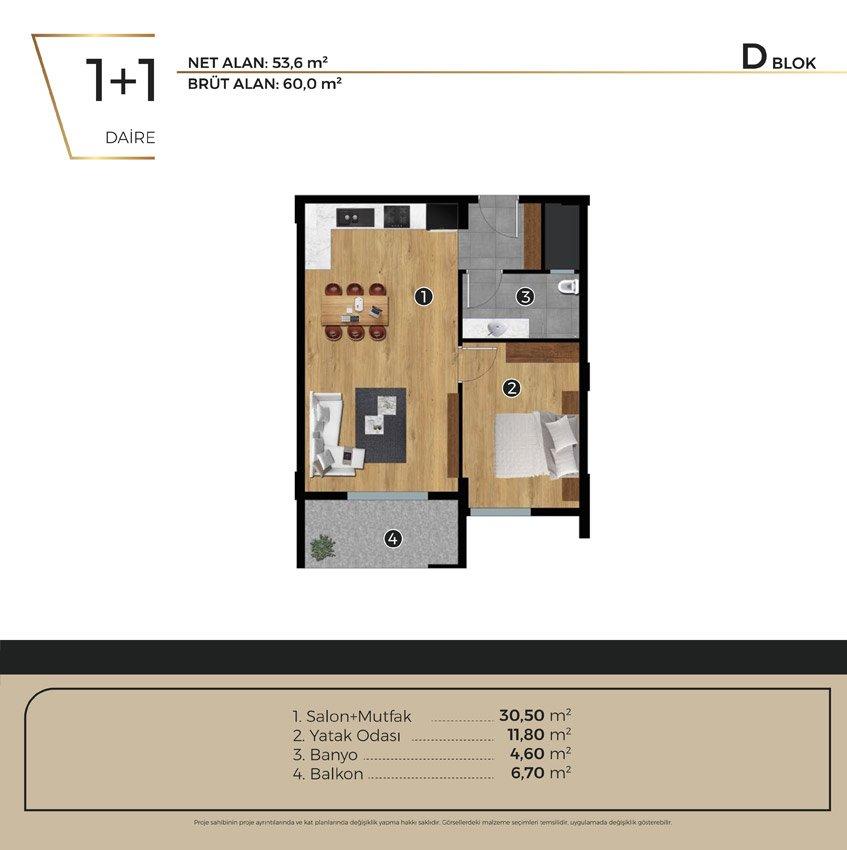 Luwi Residence dblok1 1 Kat Plani