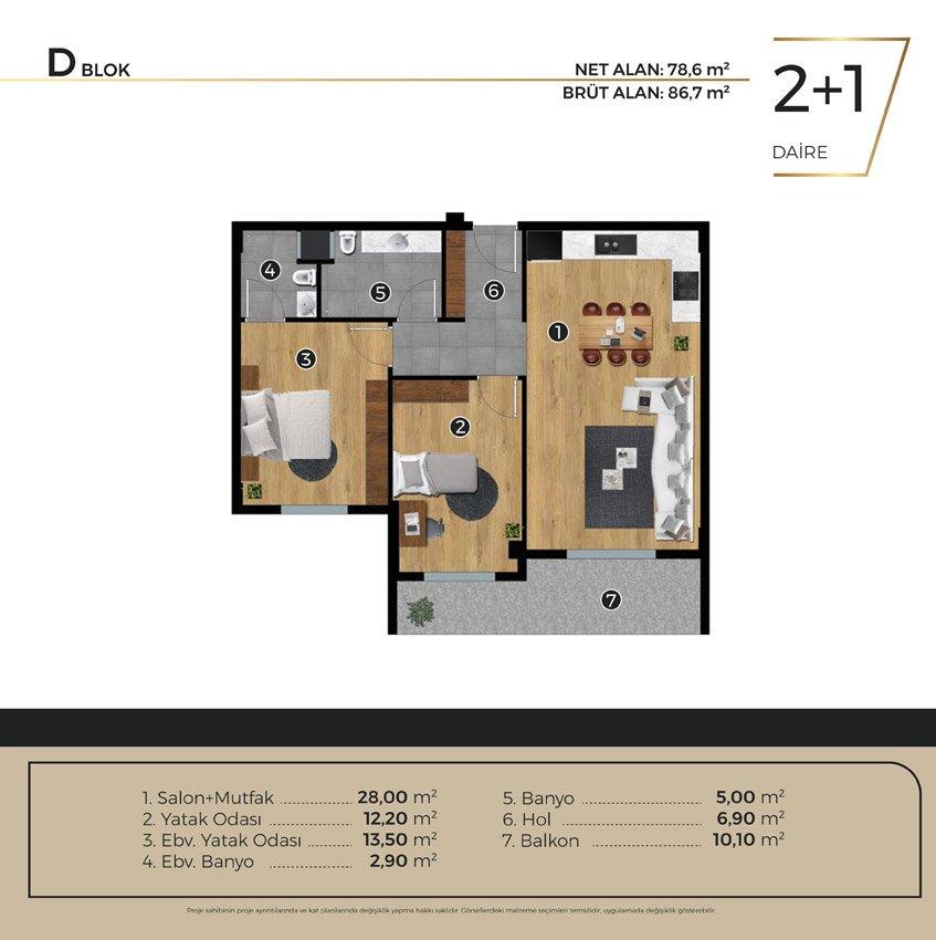 Luwi Residence dblok2 1 Kat Plani