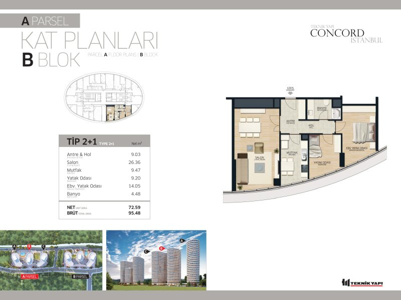 Concord Istanbul 21 Daire
