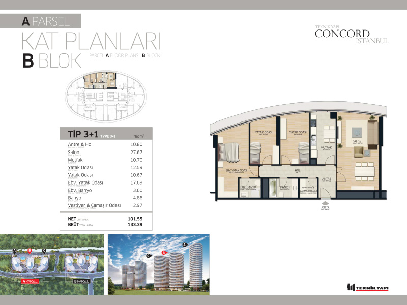 Concord Istanbul 31 Daire