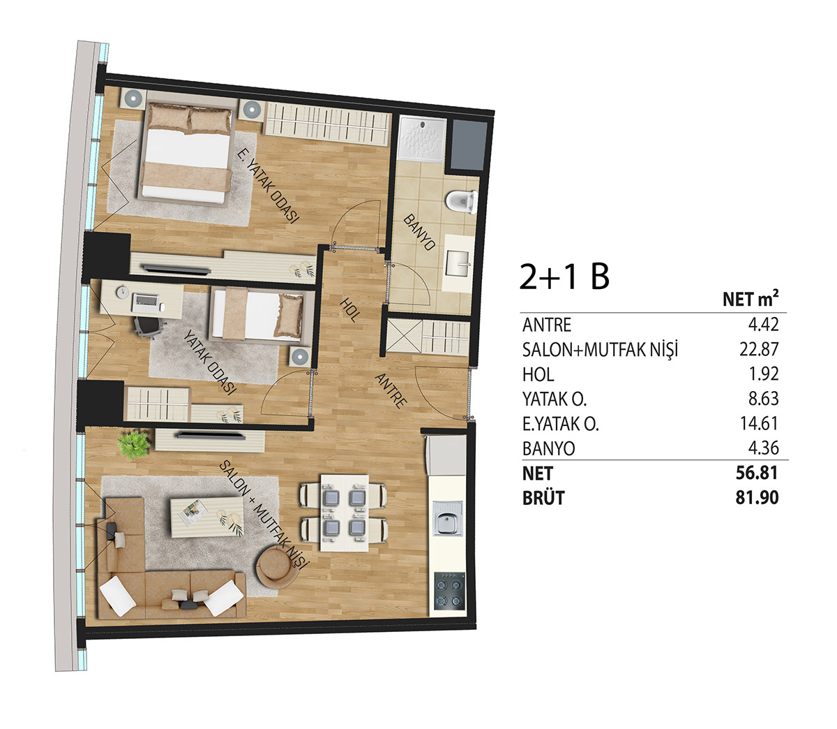 Deluxia Park Residence 21 Kat Plani