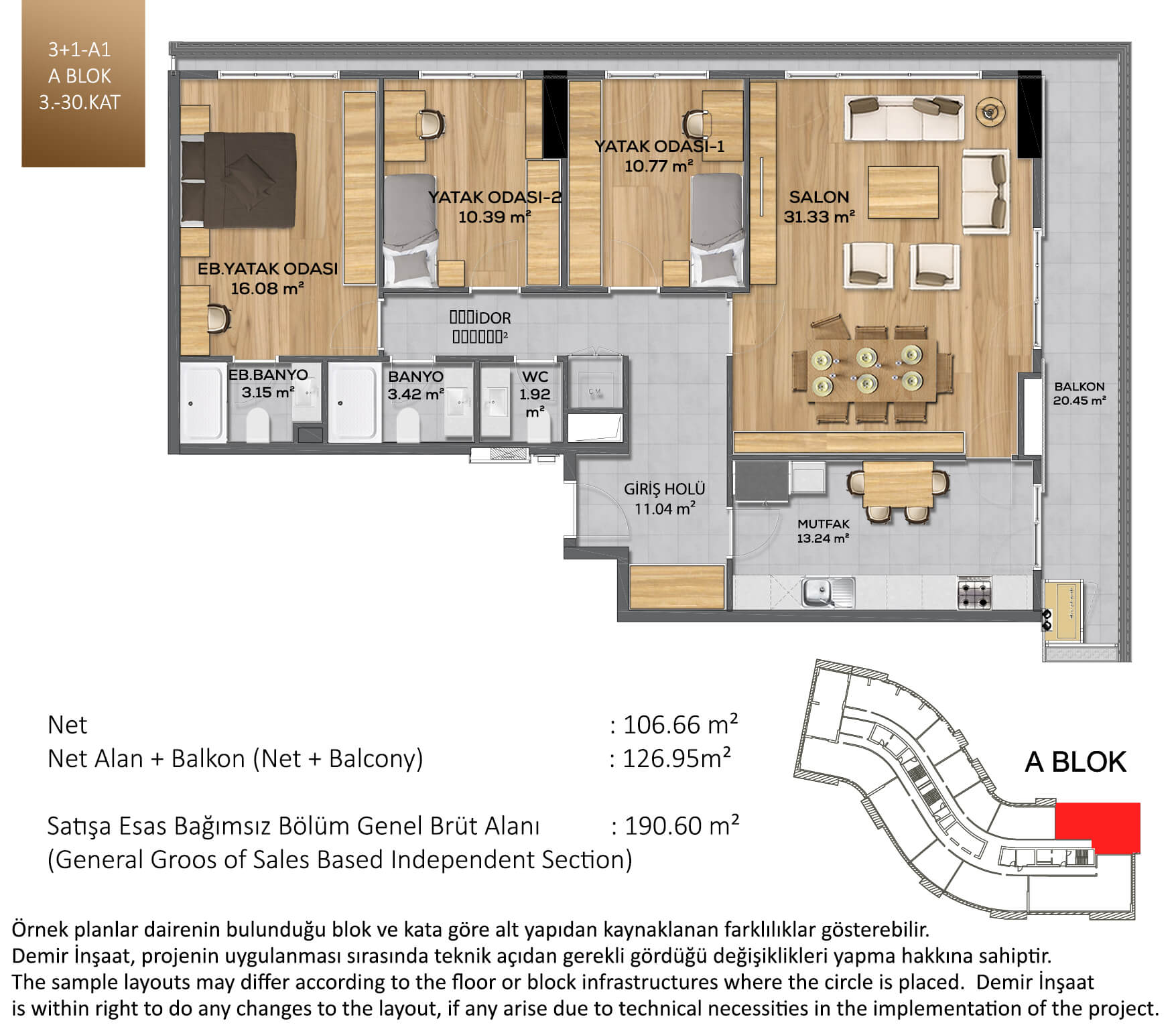Demir Life Luxury Kat Plani 31