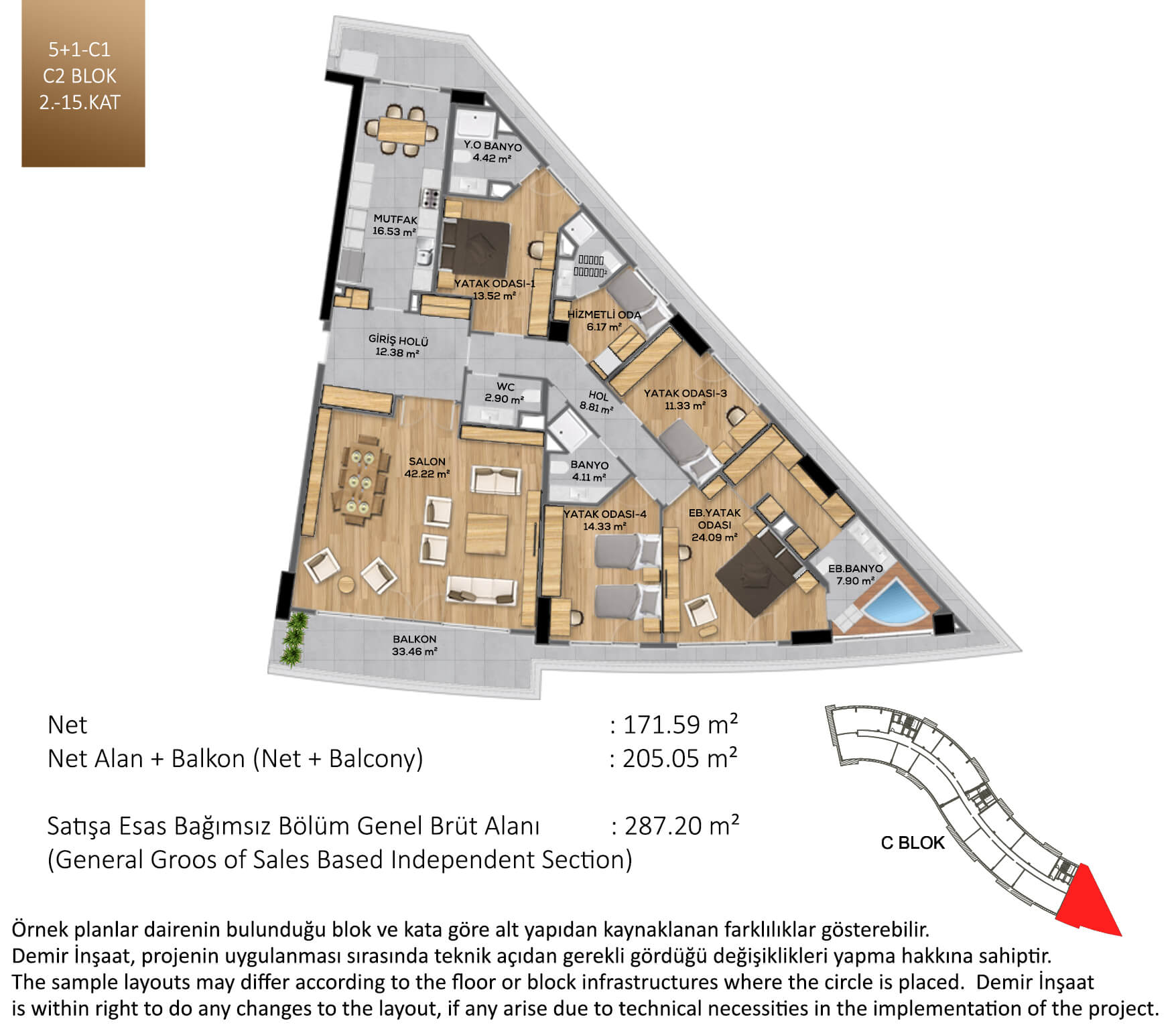 Demir Life Luxury Kat Plani 51