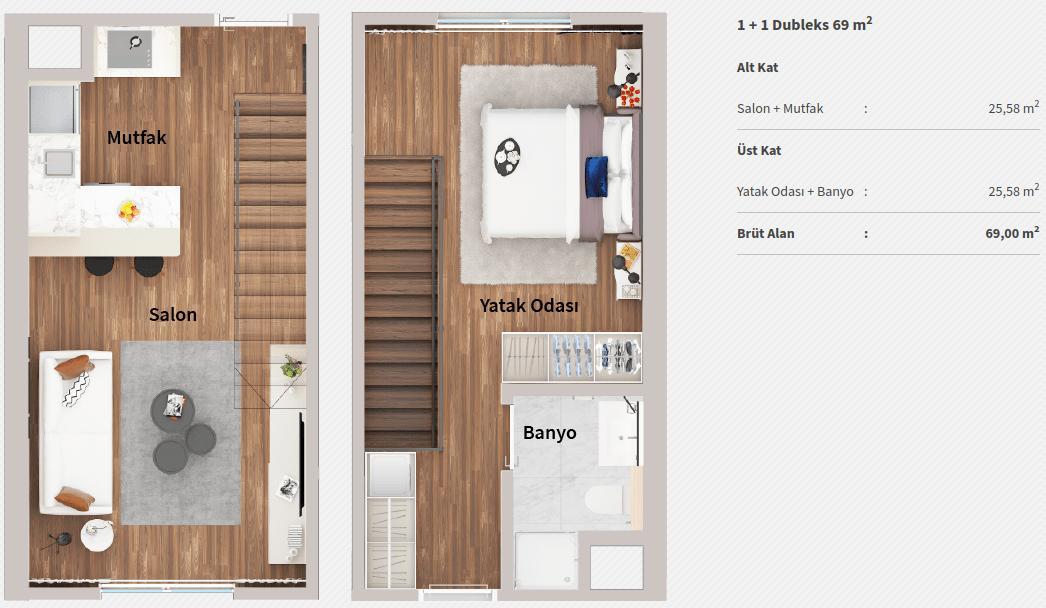 Genyap Wen Levent Residence 11 Dubleks Kat Plani