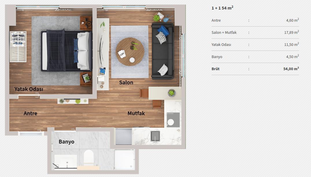 Genyap Wen Levent Residence 11 Kat Plani