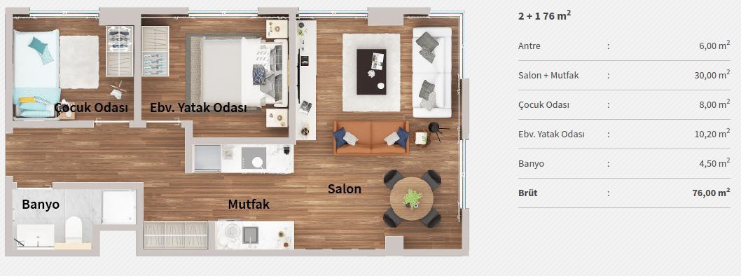 Genyap Wen Levent Residence 21 Kat Plani